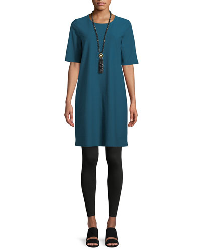 Half-Sleeve Crepe Shift Dress and Matching Items