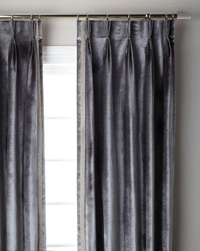 Graphite Pave 3-Fold Pinch Pleat Curtain Panel, 96