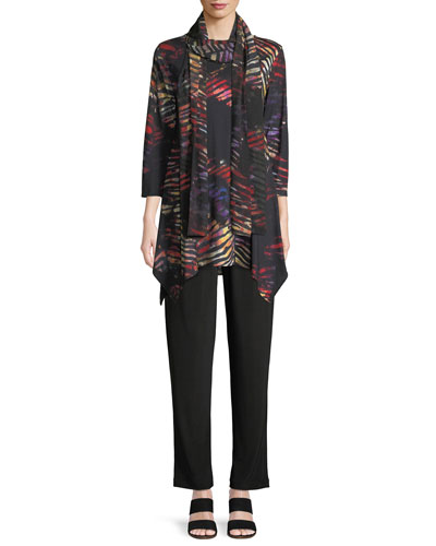 Harvest-Print Knit Swing Tunic Top, Petite and Matching Items