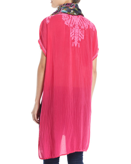 Lania Embroidered Long Tunic