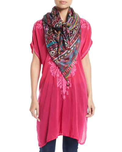 Lania Embroidered Long Tunic and Matching Items