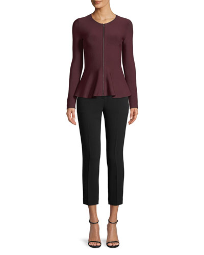 Trecca 2 Straight-Leg Cropped Admiral Crepe Pants and Matching Items