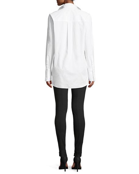 Classic Button-Down Long-Sleeve Stretch-Cotton Tuxedo Shirt