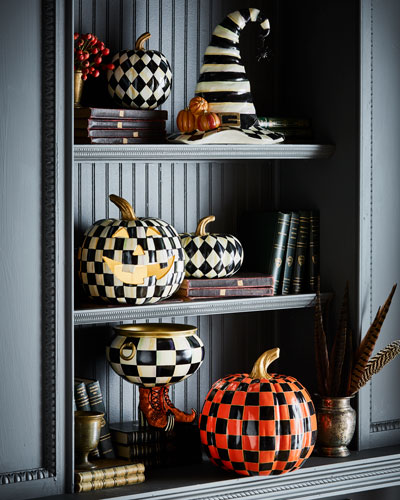 Courtly Harlequin Small Squashed Pumpkin  and Matching Items