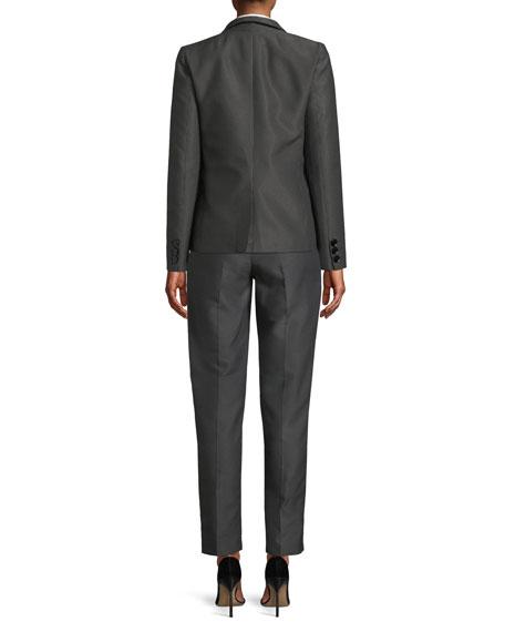 One-Button Diamond-Jacquard Jacket