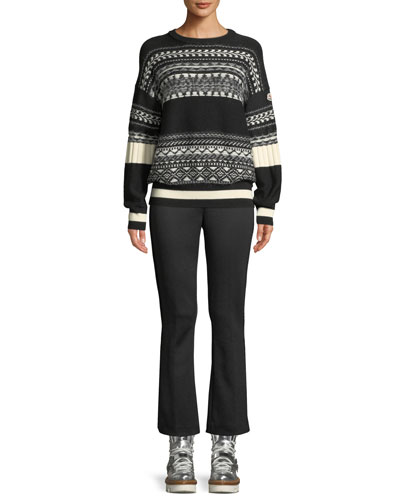 Fair Isle Knit Tricot Pullover Sweater and Matching Items