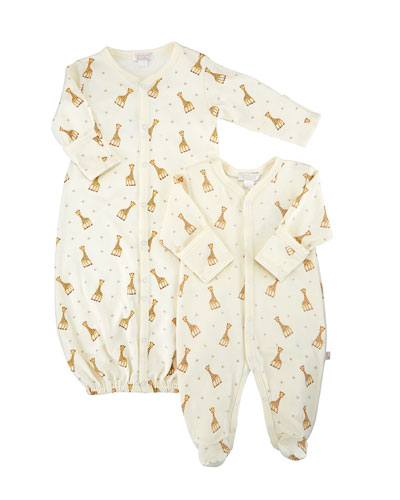 Sophie Giraffe Convertible Gown  Size Premie-12M and Matching Items
