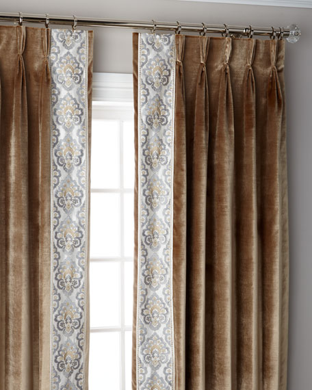 "Caramel Provence 3-Fold Pinch Pleat Blackout Curtain Panel, 120"""