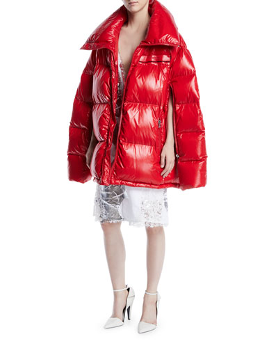 Zip-Front Quilted Puffer Jacket and Matching Items