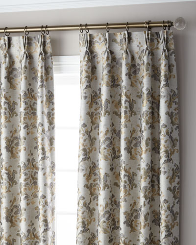 Marble 3-Fold Pinch Pleat Curtain Panel, 96
