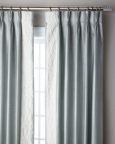 Ocean Sparkle 3-Fold Pinch Pleat Curtain Panel, 96