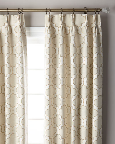 Pearl 3-Fold Pinch Pleat Curtain Panel, 108
