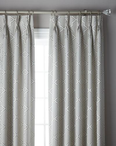 3-Fold Pinch Pleat Trellis Curtain, 132