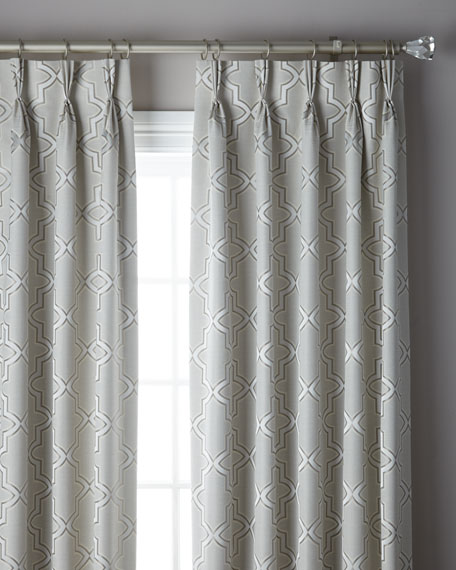 3-Fold Pinch Pleat Trellis Curtain, 132""