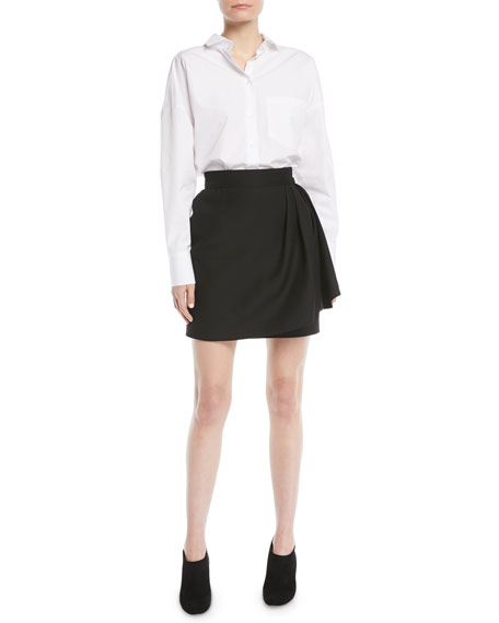 Cotton Poplin Blouse w/ VLTN Logo Back