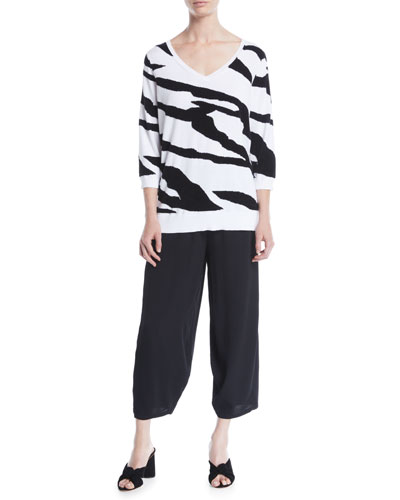 3/4-Sleeve Zebra Pullover and Matching Items