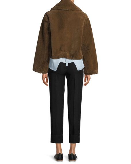 Plush Faux-Fur Coat