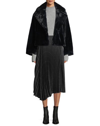 Plush Faux-Fur Coat and Matching Items