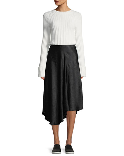 Cuffed Mock-Neck Wool-Cashmere Sweater and Matching Items