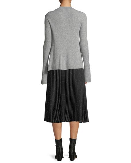 Ribbed Cashmere Crewneck Sweater