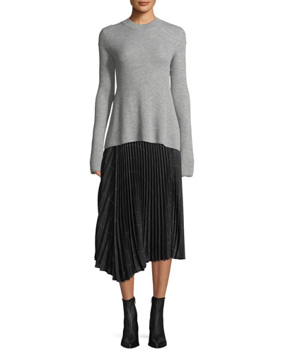 Ribbed Cashmere Crewneck Sweater and Matching Items