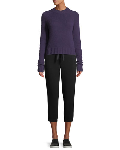 Shrunken Mock-Neck Cashmere Sweater and Matching Items