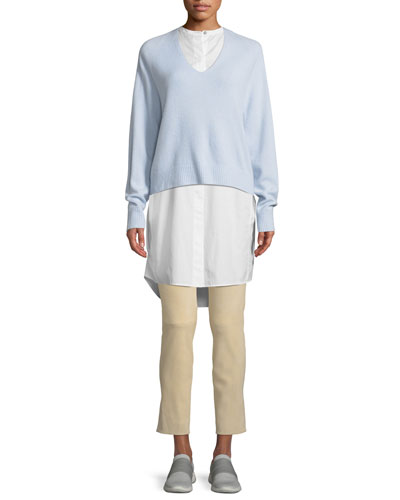 V-Neck Raglan Cashmere Sweater and Matching Items