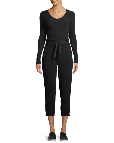 Ribbed U-Back Long-Sleeve Top and Matching Items