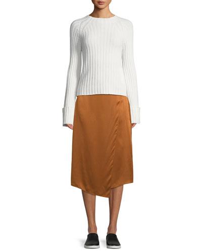 Draped Panel Silk Midi Skirt and Matching Items