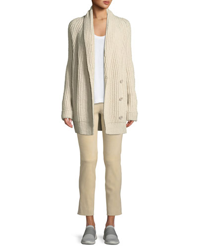 Shawl-Collar Wool-Blend Cardigan and Matching Items