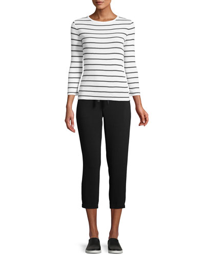 Classic Striped Crewneck Top and Matching Items