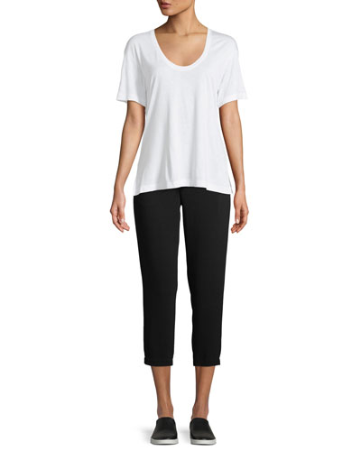 Short-Sleeve Scoop-Neck Tee and Matching Items