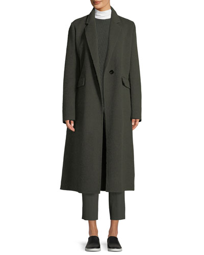 Single-Button Coat and Matching Items