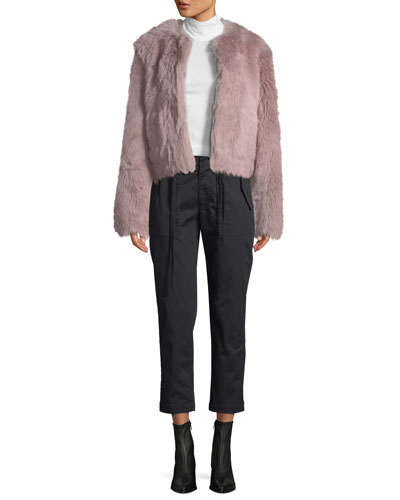Cropped Shearling Coat and Matching Items