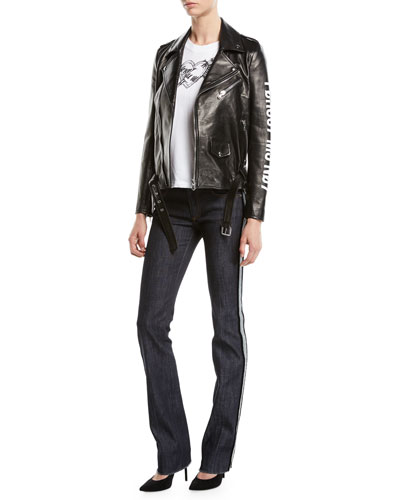 Leather Moto Jacket w/ Encrypted Love Note and Matching Items