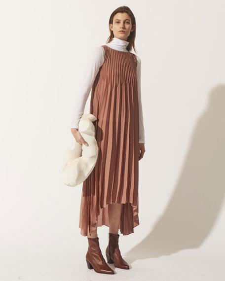Long-Sleeve Cotton Turtleneck Sweater