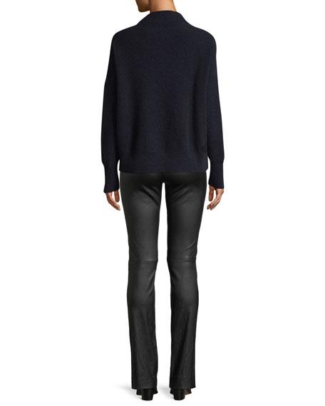 Cashmere Funnel-Neck Pullover Sweater