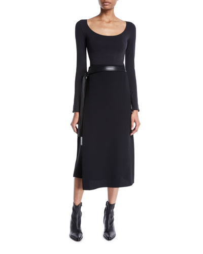 Belted Wrap Midi Skirt and Matching Items