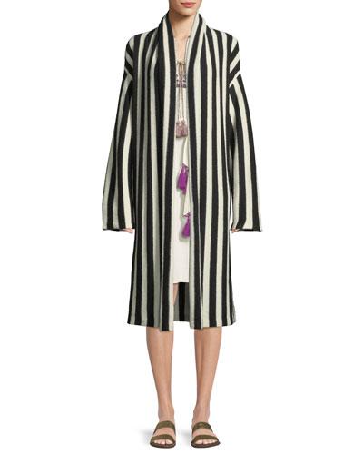 Fatima Belted Striped Alpaca-Blend Cardigan Sweater and Matching Items