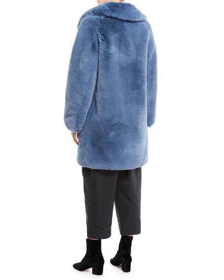 Chubby Plush Coat with Collar