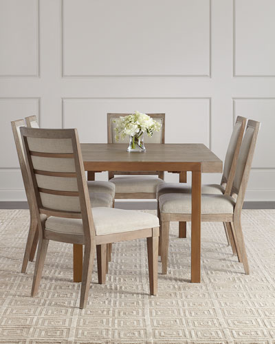 Wyatt Rectangle Dining Table with Leaves  and Matching Items