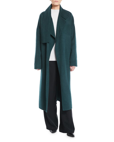 Cozy Belted Long Wool Coat and Matching Items