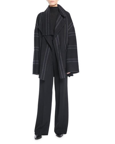 Striped Belted Wool Blanket Coat and Matching Items
