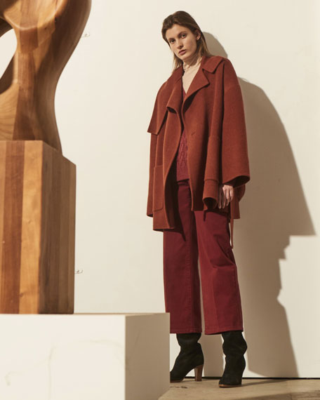 Oversized Wool Blanket Coat