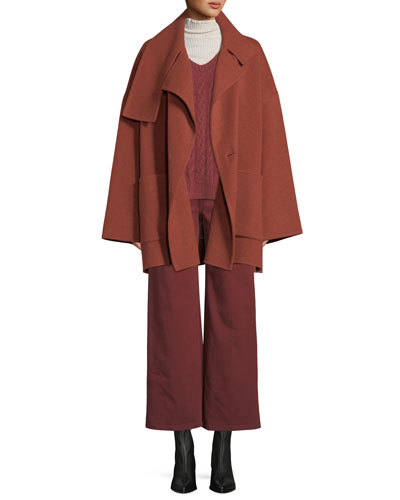 Oversized Wool Blanket Coat and Matching Items