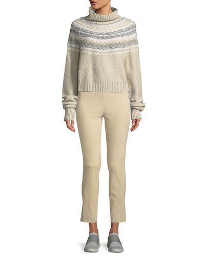 Cropped Fair Isle Turtleneck Sweater and Matching Items