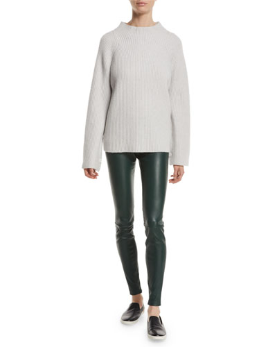 Ribbed Funnel-Neck Wool-Cashmere Sweater and Matching Items