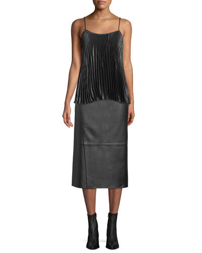 Pleated Square-Neck Tank and Matching Items