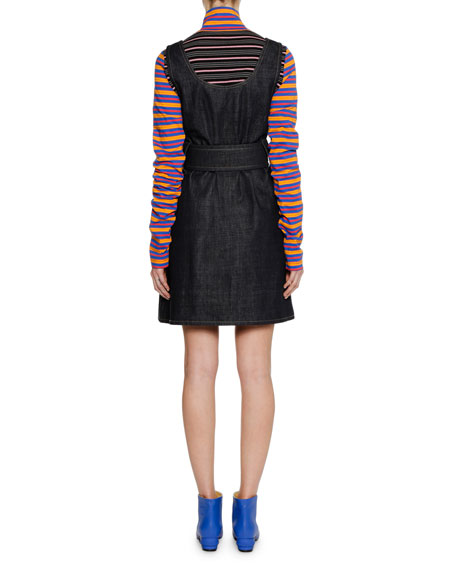 Long-Sleeve Zip-Collar Multi-Stripe Jersey Knit Shirt