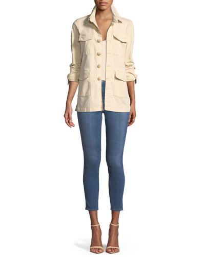 Victoria Button-Front Utility Jacket and Matching Items